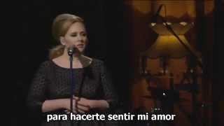 Adele - Make you feel my love -Live- con subtítulos en español..mp4