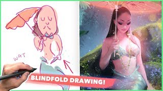 DRAWING BLINDFOLDED WITH LILYPICHU!!