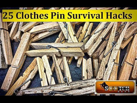 25 Clothes Pin Hacks for Survival