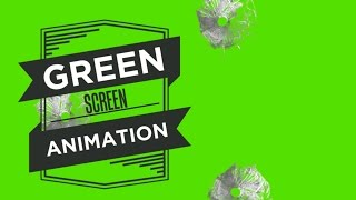 Bullet Holes Glass - Green Screen Footage Free