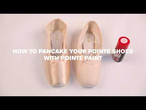 How to Pancake your Pointe Shoes with Pointe Paint
