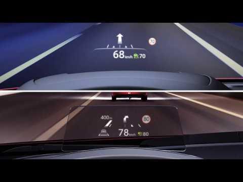 Mazda CX-5 Head up-display med trafikskyltsavläsning