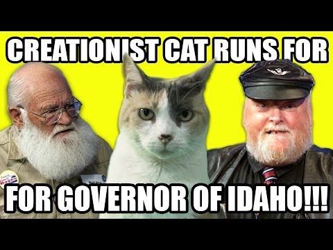 Creationist Cat Runs For Governor of Idaho!!!