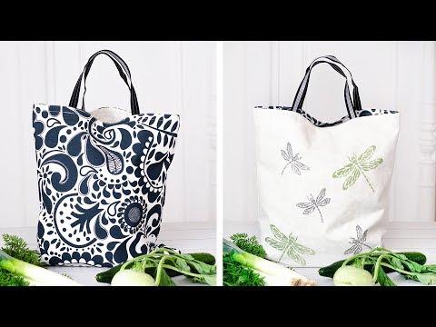 DIY – Tasche nähen | Wendetasche |  Nähanleitung für Einsteiger | Upcycling |