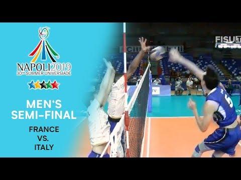 FRANCE vs. ITALY | Men's Semi-Final | FISU Summer Universiade - Napoli 2019