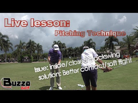 LIVE SHORT GAME LESSON (Inside/closed backswing)- improve contact and produce a higher ball flight