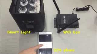 Process To Using Cell Phone Control The RGBWAUV Battery Wireless Uplight