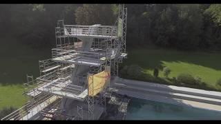Stadtbad Sprungturm Bauzustand Video 2018 09 21