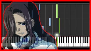 Fairy Tail - Sad Theme (Piano)-anime{easy piano tutorial}-(Synthesia)-HD