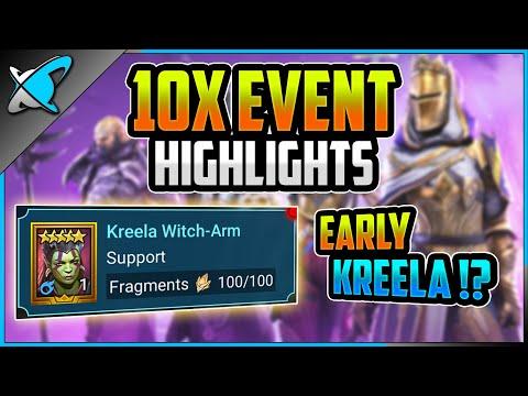 10X EVENT HIGHLIGHTS... A LEGO !? | Early Kreela !? | RAID: Shadow Legends