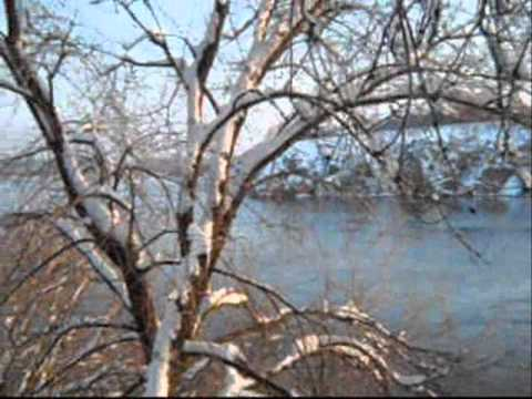 24.01.2011 Zaporizhzhya.Ukraine.Little stones.Dnieper.Snow.wmv