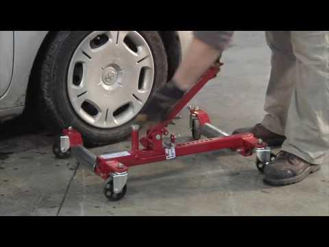 Ironton Heavy-Duty Mechanical Wheel Dolly - 1,250-Lb. Lift Capacity