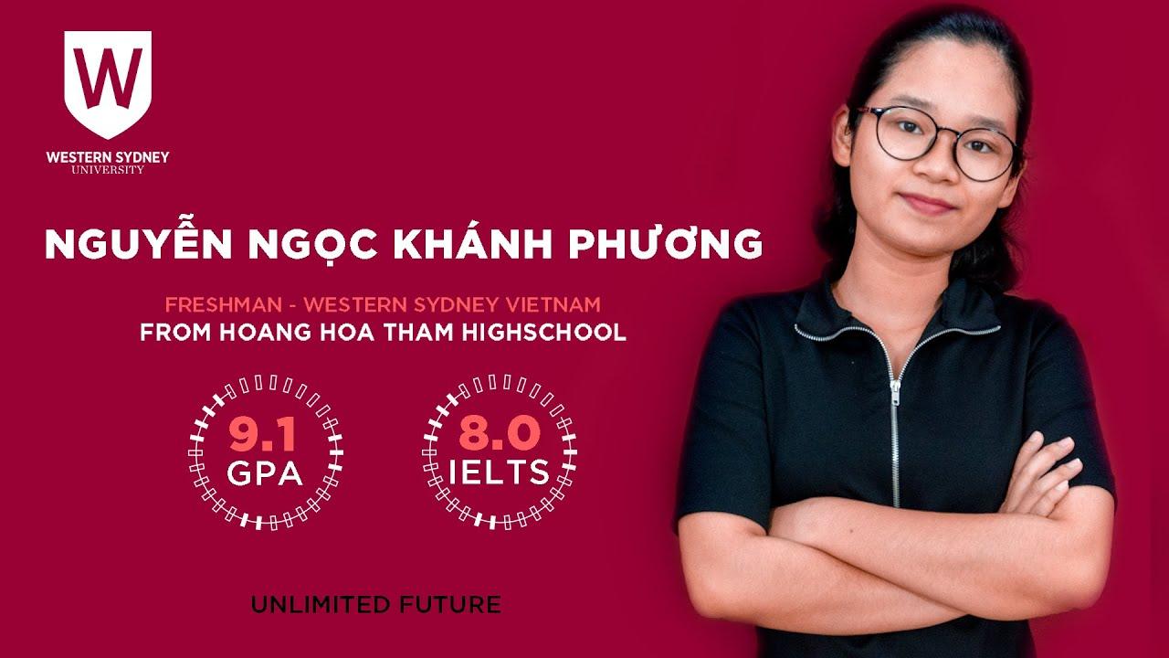 Nguyễn Ngọc Khánh Phương – Khóa 11 – GPA 9.1 – IELTS 8.0 – THPT  Hoàng Hoa Thám