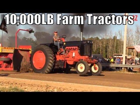10,000LB Farm Tractors At TTPA Tractor Pulls In Port Hope MI 2018