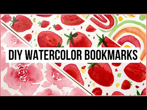 DIY: Watercolor Bookmarks & Painting Ideas