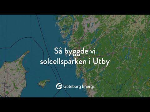 Så byggde vi solcellsparken i Utby