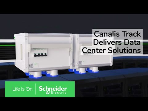 Canalis Track: The New Generation of Electrical Distribution in Data Center | Schneider Electric