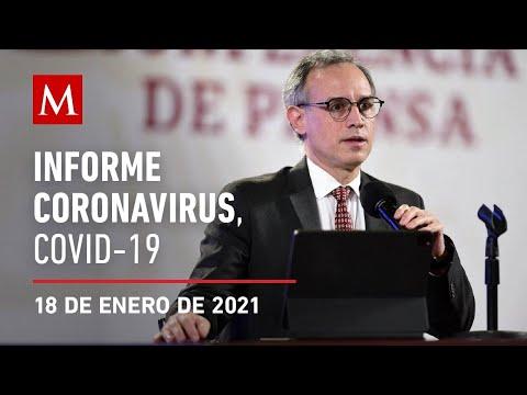 Informe diario por coronavirus en México, 18 de enero de 2021