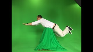 GREEN SCREEN TIPS: Use a green bag or green material over a stool!