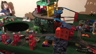 Thomas and friends cainan goes crazy on the train table