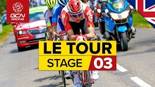Tour de France 2019 Stage 3 Highlights: Binche - Epernay | GCN Racing