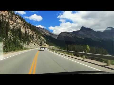Driving the Icefields Parkway through Banff National Park, Canada *HD*
