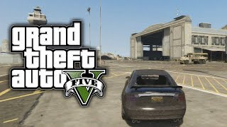 GTA 5: GET IN THE MILITARY BASE WITH NO STARS ONLINE (GTA V)
