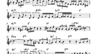 Chet Baker solo I fall in love to easily 100% speed transcription