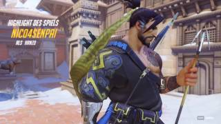 Hanzos Zerstörerpfeil - Overwatch Highlight