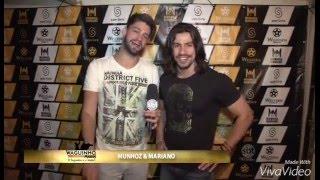 Rodrigo e Gabriel no palco do Munhoz e Mariano, mais entrevista