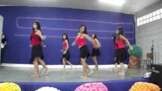 Poesia, Arte & Cidadania 2010, apresenta a dança Vermelho Fafá de Belém, com as alunas, Cléia, Caroline, Gislaine, Fabrícia e  Edilaine  Nubiely, Viviane,