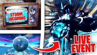 *NEW* Fortnite Season 7 LIVE Event Countdown TV Weather Warnings!?! + Ice Storm Snow Fall Incoming!?