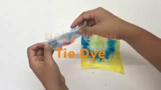 Baby Wipe Tie Dye
